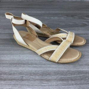 Born Weaved Wicker Style Sandals